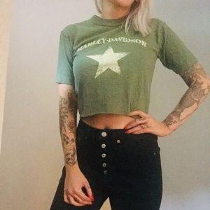 Harley Davidson Cropped T-shirt